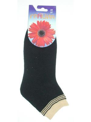 Носки женские H 050 Грация. Цвет: черный, желтый
