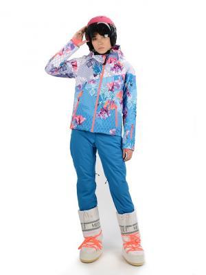 Куртка Stayer. Цвет: бирюзовый, белый, коралловый