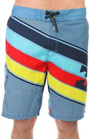 Шорты пляжные  Slice Layback 20 Light Steel Billabong. Цвет: мультиколор