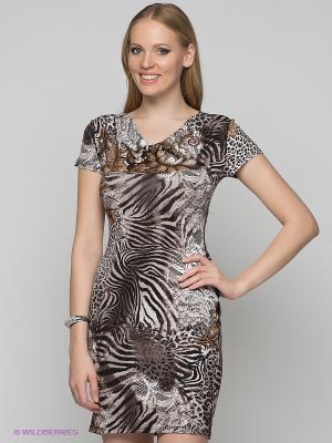 Платье Remix. Цвет: черный, белый, коричневый