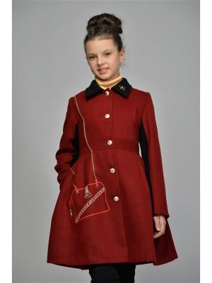Пальто DESTY. Цвет: бордовый