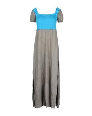 Длинное платье OBLIQUE CREATIONS. Цвет: лазурный