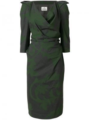 Платье со структурированными плечами Vivienne Westwood. Цвет: серый
