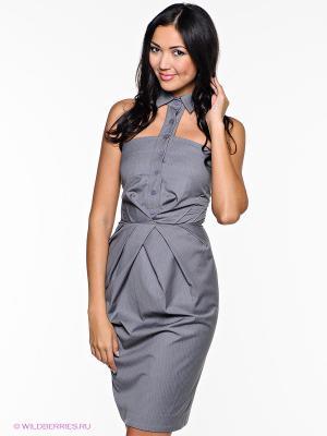 Платье Com-Mix. Цвет: серый