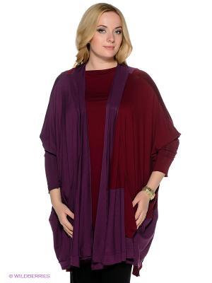 Твинсет МадаМ Т. Цвет: фиолетовый, бордовый