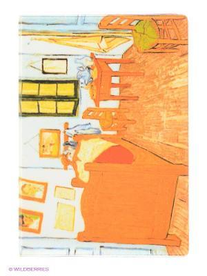 Обложка для автодокументов Ван Гог - Спальня в Арле Mitya Veselkov. Цвет: оранжевый, желтый, белый