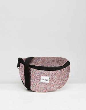 Spiral Сумка-кошелек на пояс Jewels. Цвет: розовый