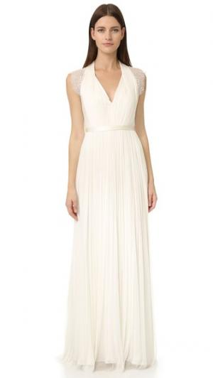Вечернее платье Lavern Catherine Deane. Цвет: светло-бежевый