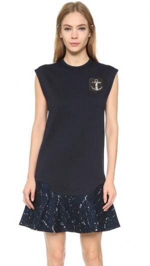 Платье без рукавов No. 21. Цвет: темно-синий