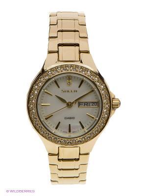 Часы Sheen CASIO. Цвет: золотистый