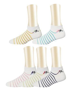 Носки, 5 пар Glamuriki. Цвет: голубой, бежевый, розовый