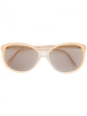 Солнцезащитные очки в оправе кошачий глаз Balenciaga Vintage. Цвет: жёлтый и оранжевый