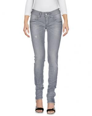 Джинсовые брюки NOLITA. Цвет: серый