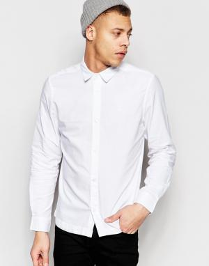 Waven Белая оксфордская рубашка слим Mimir. Цвет: белый