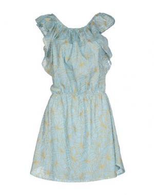 Короткое платье AGOGOA. Цвет: небесно-голубой