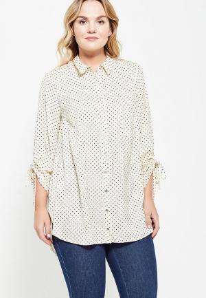 Блуза Dorothy Perkins Curve. Цвет: бежевый