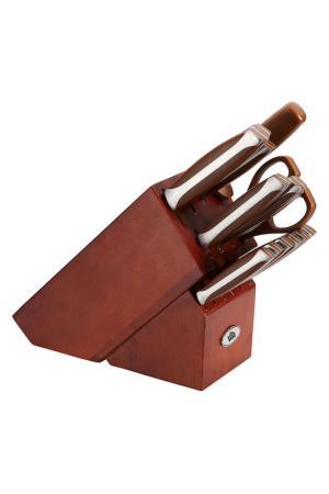 Набор ножей 15 пр. STAHLBERG. Цвет: коричневый