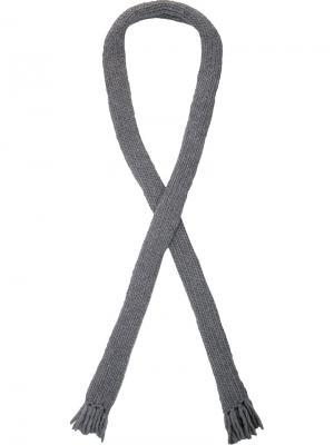 Вязаный шарф Christopher Raeburn. Цвет: серый