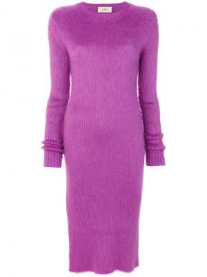 Платье с разрезами Ports 1961. Цвет: розовый и фиолетовый