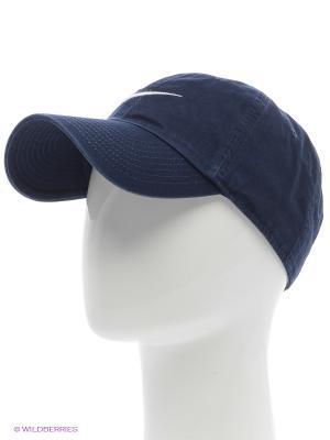 Бейсболка NIKE SWOOSH H86 - BLUE. Цвет: темно-синий, белый