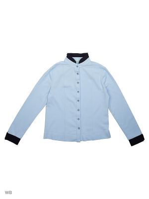 Блузка LIK. Цвет: темно-синий, светло-голубой
