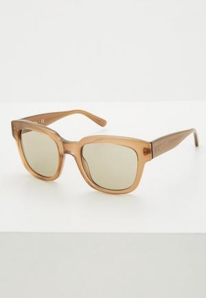 Очки солнцезащитные DKNY. Цвет: бежевый