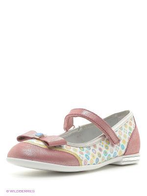 Туфли ELEGAMI. Цвет: бледно-розовый, серый, бронзовый