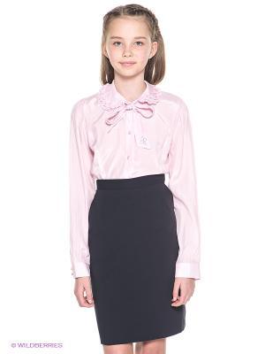 Блузка Cleverly. Цвет: бледно-розовый