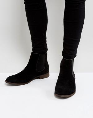 New Look Черные классические ботинки челси из искусственной замши. Цвет: черный