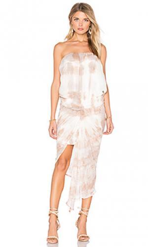 Платье kauai Young Fabulous & Broke. Цвет: серо-коричневый