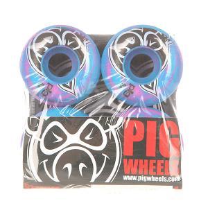 Колеса для скейтборда  Head Swirls New Pink/Blue 100A 52 mm Pig. Цвет: голубой,розовый