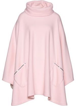 Флисовый кейп (нежно-розовый) bonprix. Цвет: нежно-розовый