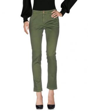 Повседневные брюки MANILA GRACE DENIM. Цвет: зеленый-милитари