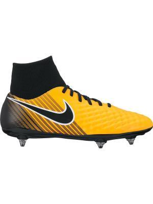Бутсы MAGISTA ONDA II DF SG Nike. Цвет: оранжевый