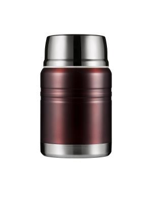 Термос для еды LUNCH SPOT, коричневый металлик, 500 мл WOODSURF. Цвет: коричневый