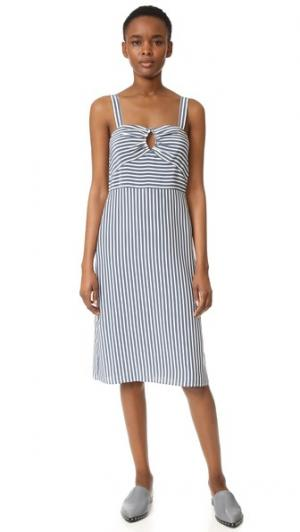 Платье в полоску без рукавов Jenni Kayne. Цвет: голубой