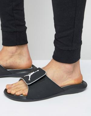 Jordan Шлепанцы Nike Air Hydro 6 881473-011. Цвет: черный