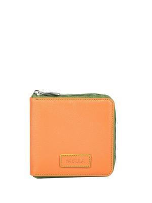 Портмоне компактное FABULA. Цвет: оранжевый