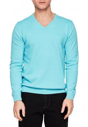 Пуловер s.Oliver. Цвет: бирюзовый