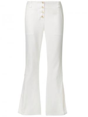 Расклешенные брюки Proenza Schouler. Цвет: белый
