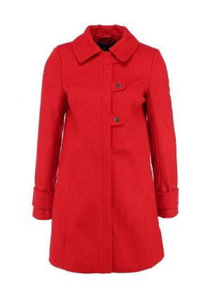 Пальто LOST INK. Цвет: красный