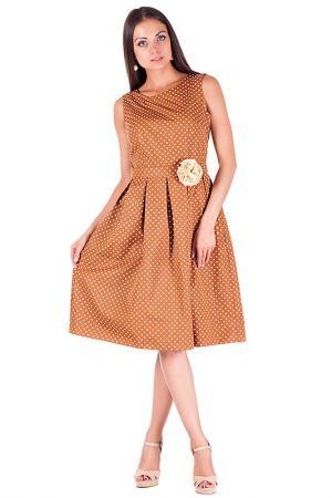 Платье Mannon. Цвет: горчичный