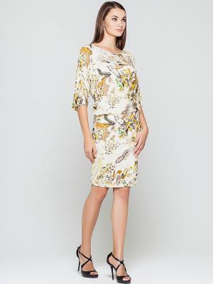 Платье Elena Shipilova. Цвет: бежевый, молочный, желтый