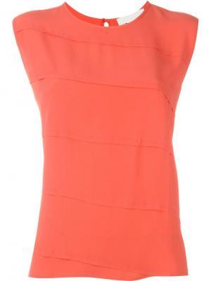 Блузка без рукавов 8pm. Цвет: жёлтый и оранжевый
