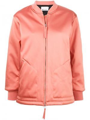 Свободная куртка-бомбер T By Alexander Wang. Цвет: жёлтый и оранжевый