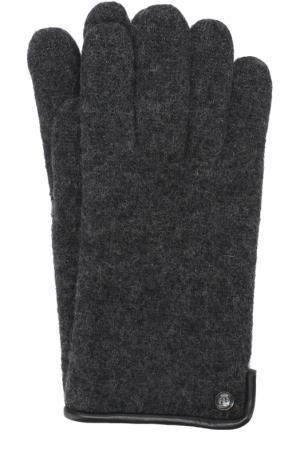 Шерстяные перчатки Roeckl. Цвет: темно-серый