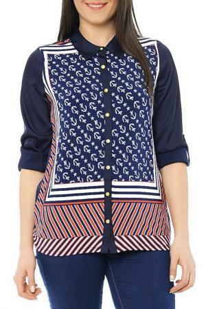 Рубашка CLAUDIA MILLEN. Цвет: синий
