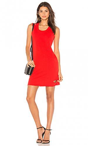 Мини-платье с вырезами Lanston. Цвет: красный