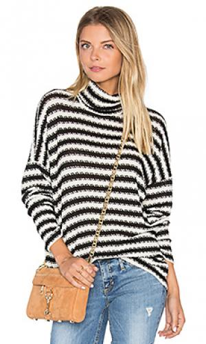 Полосатый пуловер с высоким воротом marshall Michael Lauren. Цвет: black & white