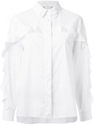 Рубашка с украшениями на воротнике Muveil. Цвет: белый
